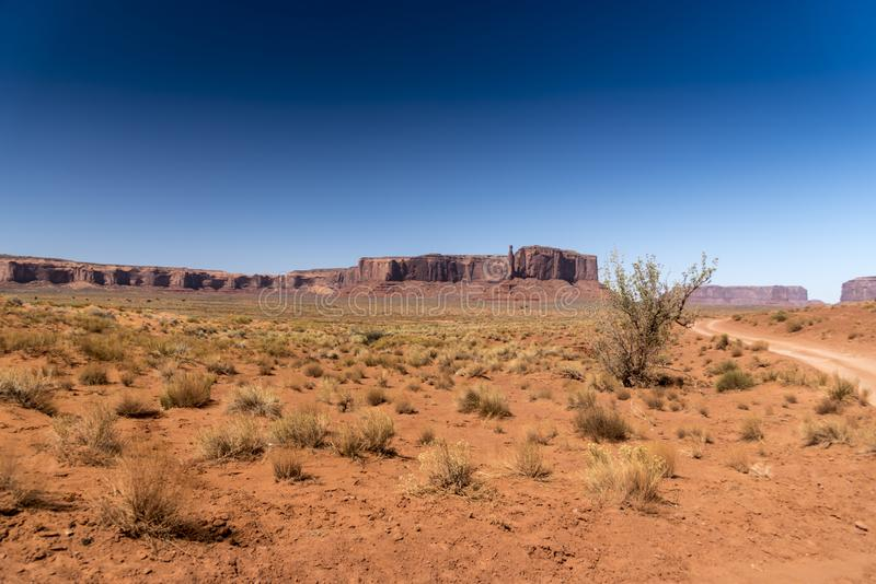 Mesa, Buttes och vegetationmonumentdal Arizona arkivfoton