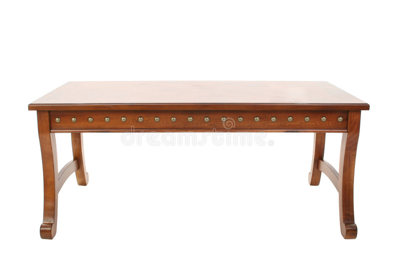 Mesa de centro de madera imagen de archivo libre de regalías
