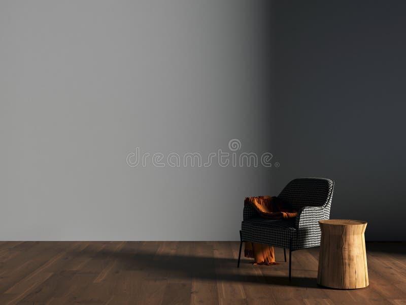 Mesa de comedor en el interior representaci?n 3d foto de archivo libre de regalías