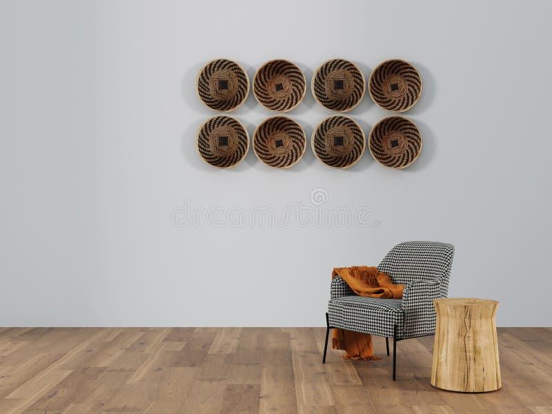 Mesa de comedor en el interior representaci?n 3d imagenes de archivo