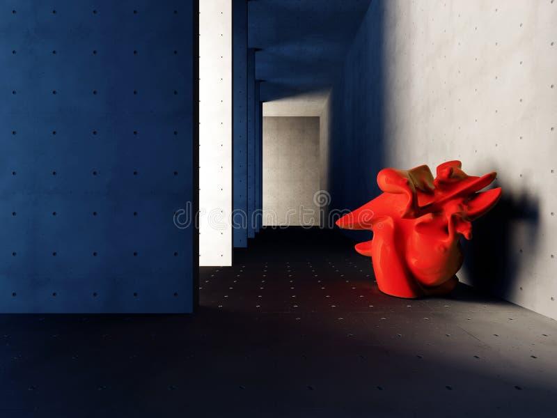 Mesa de comedor en el interior representaci?n 3d fotografía de archivo libre de regalías