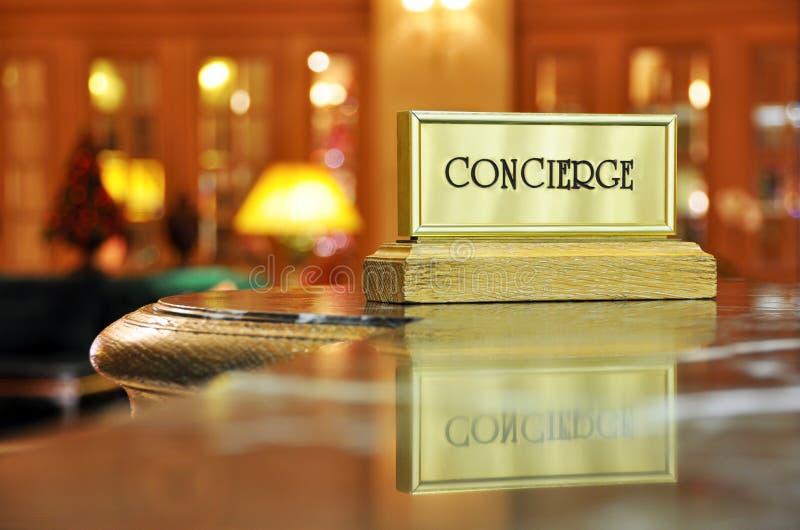 Mesa de Concierge foto de stock
