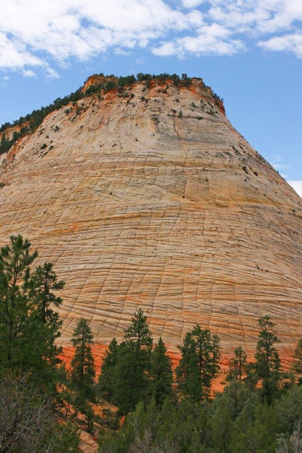 MESA de damier, Zion Canyon National Park, Utah images libres de droits