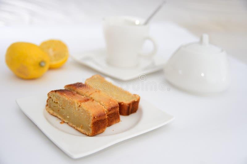 Mesa de desayuno Café y leche fotos de archivo