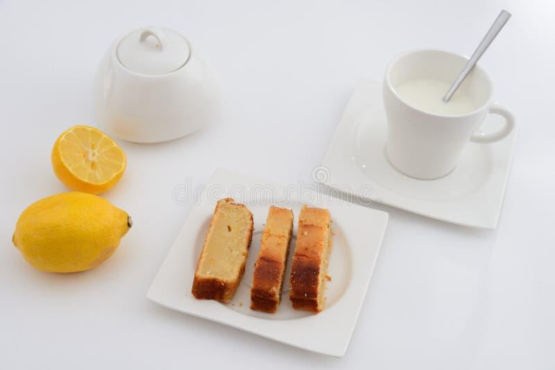 Mesa de desayuno Leche Café imagen de archivo