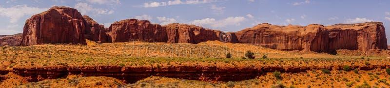 MESA de Dieu de pluie Panorama de Monyment Velly, Utah, Etats-Unis images libres de droits