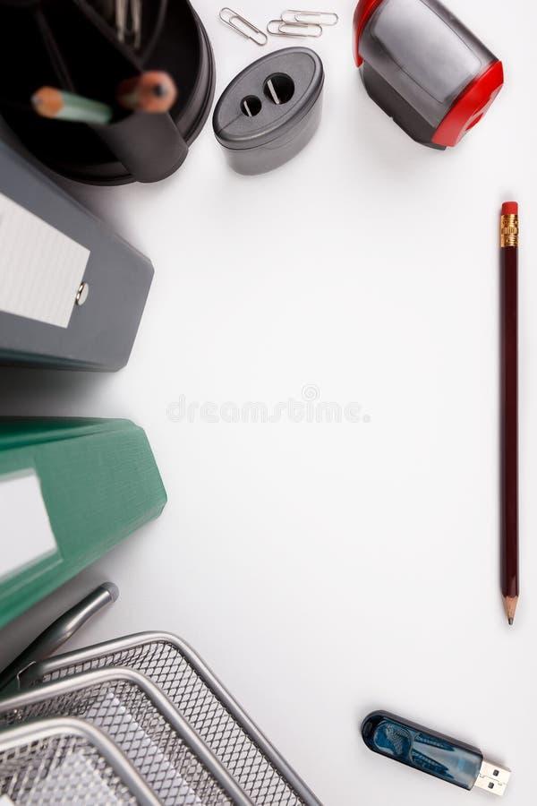 Mesa de escritório branca foto de stock royalty free
