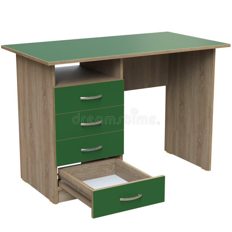 Mesa de escrita direta para o escritório ilustração royalty free