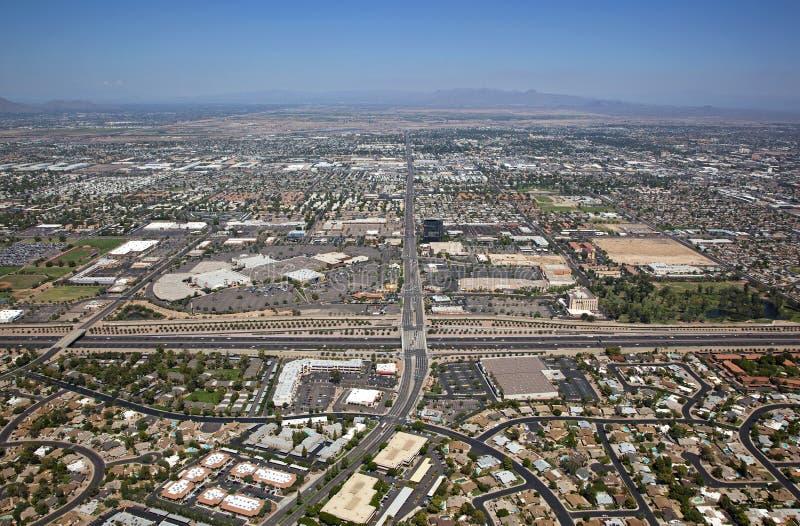 Mesa, de Horizon van Arizona stock fotografie