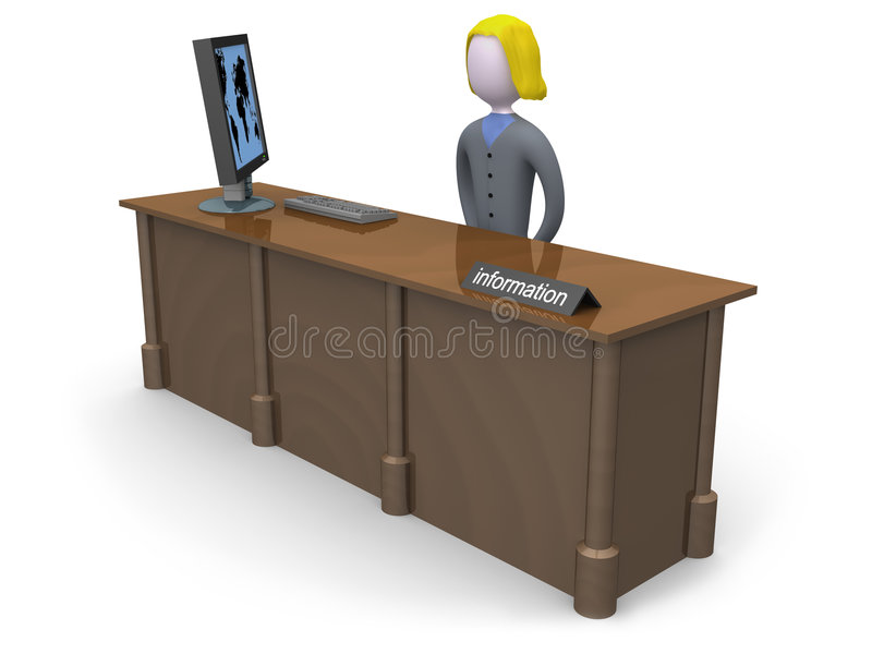 Mesa de informação ilustração do vetor