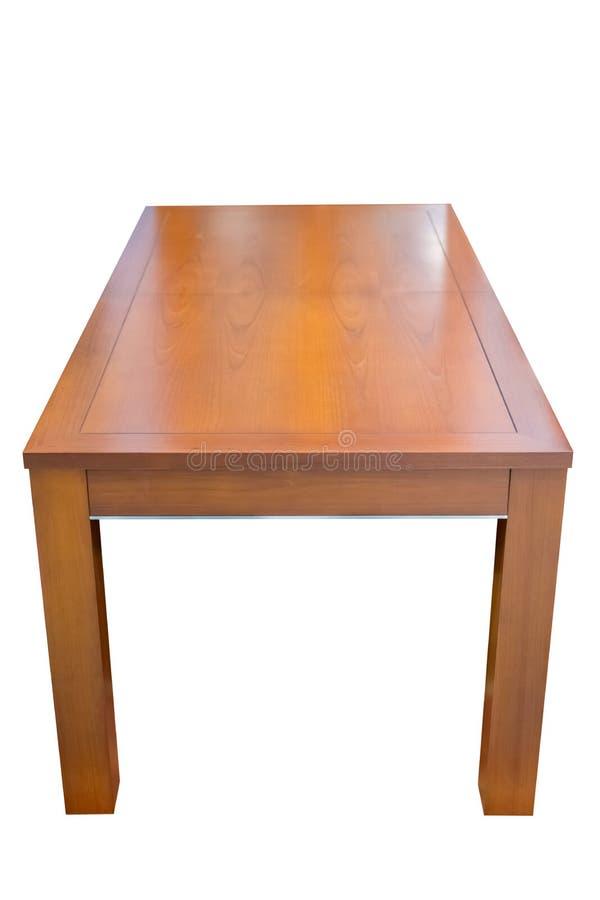 Mesa de jantar de madeira isolada no fundo branco foto de stock royalty free