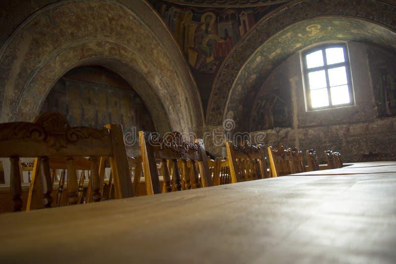 Mesa de jantar medieval imagem de stock