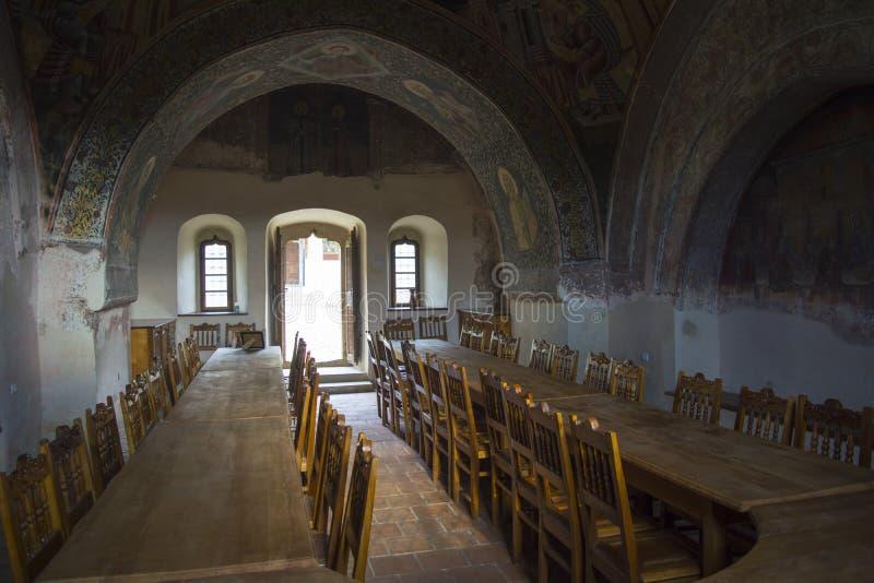 Mesa de jantar medieval foto de stock royalty free