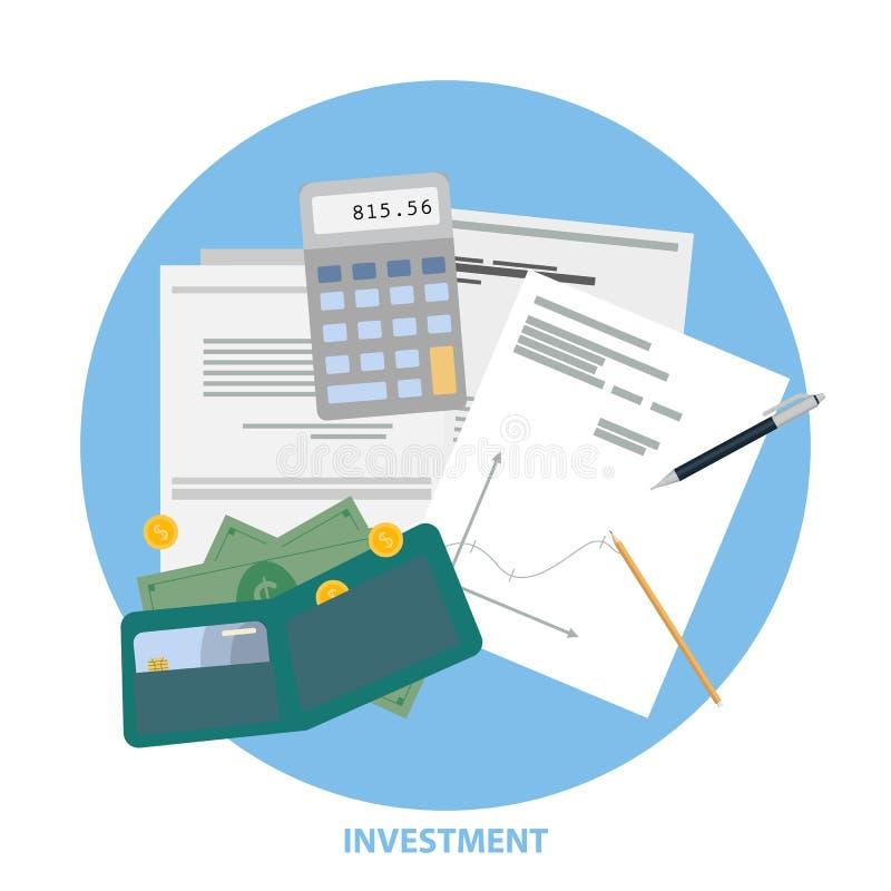 Mesa de la inversión ilustración del vector