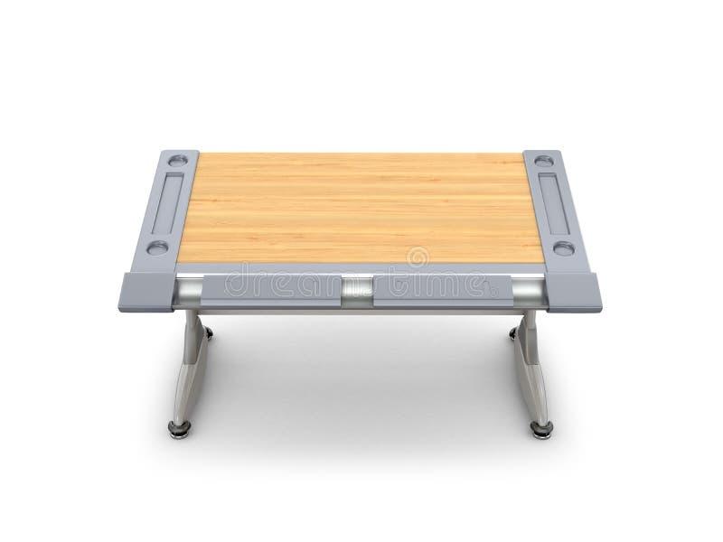 """Mesa de madeira da escola isolada no ½ branco е do ¾ Ð do """"Ð de Ñ ilustração stock"""