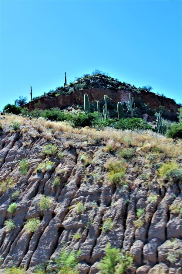 Mesa del paisaje del paisaje a Sedona, el condado de Maricopa, Arizona, Estados Unidos imagen de archivo