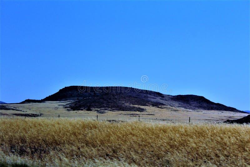 Mesa del paisaje del paisaje a Sedona, el condado de Maricopa, Arizona, Estados Unidos fotos de archivo
