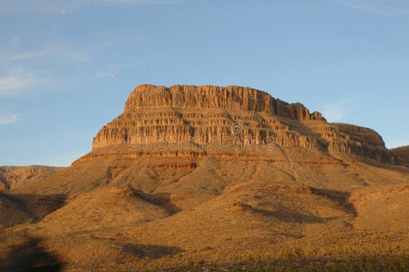 MESA dell'Arizona su un pomeriggio di estate fotografia stock