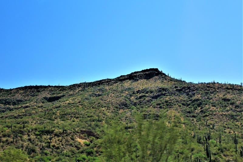 Mesa do cenário da paisagem a Sedona, Maricopa County, o Arizona, Estados Unidos fotos de stock royalty free