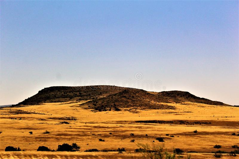 Mesa do cenário da paisagem a Sedona, Maricopa County, o Arizona, Estados Unidos imagens de stock royalty free
