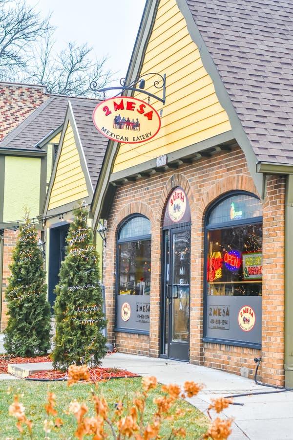 2 Mesa Mexico Eatery - Milwaukee, Wisconsin fotografia stock