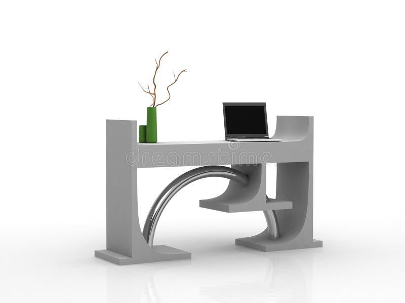 Mesa moderna com portátil ilustração do vetor