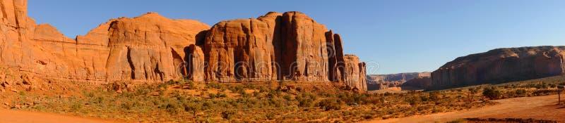 Mesa panorama. Panorama of mesas and buttes at Monument Valley, Arizona stock photos