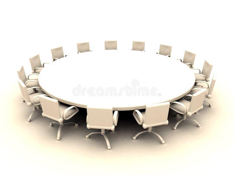 Mesa redonda 2 stock de ilustración