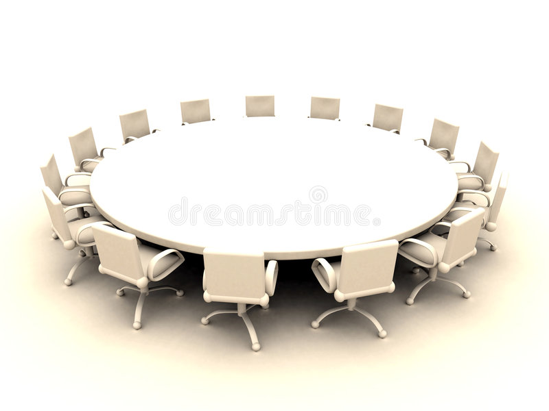 Mesa redonda 2 ilustração stock