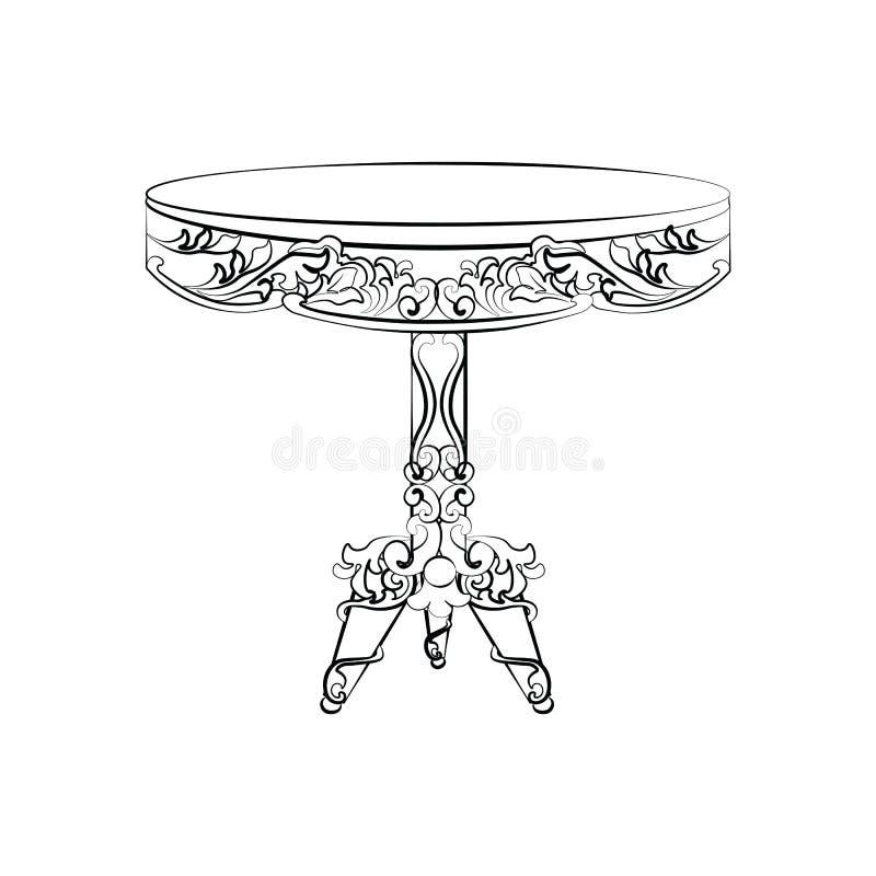 Mesa redonda clássica imperial elegante ilustração royalty free