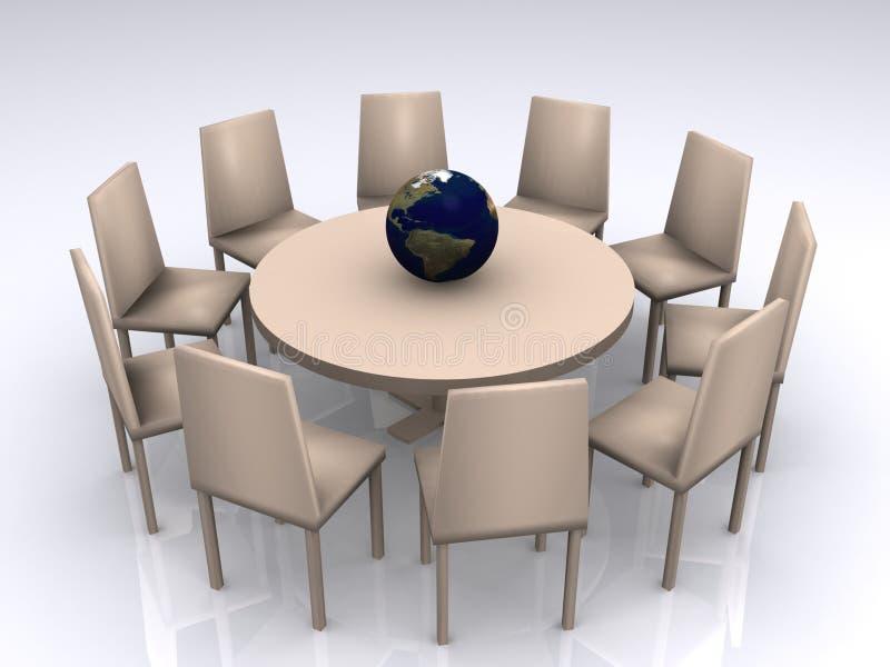 Mesa redonda do negócio   ilustração stock