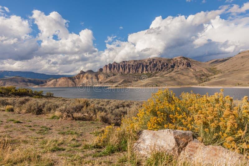 Mesa Reservoir Colorado bleu scénique photo libre de droits