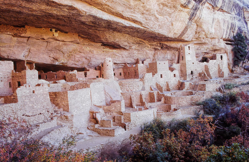 Mesa Verde废墟在科罗拉多 库存照片