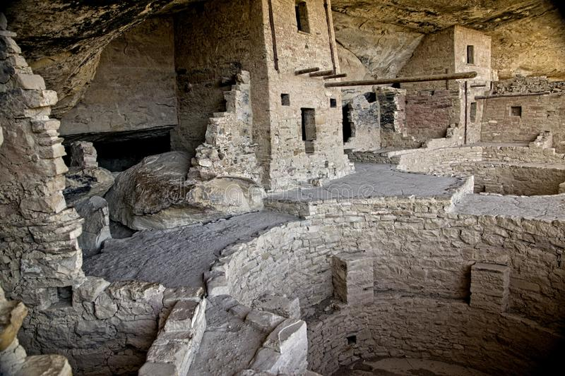 Mesa Verde Anasazi Cliff Dwellings. Ancient ruins are all that remain of the Anasazi Puebloan people that once lived at Cliff House at Mesa Verde, Colorado royalty free stock images