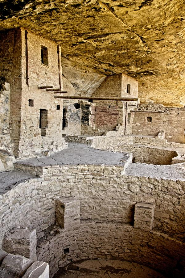 Mesa Verde Anasazi Cliff Dwellings. Ancient ruins are all that remain of the Anasazi Puebloan people that once lived at Cliff House at Mesa Verde, Colorado royalty free stock image