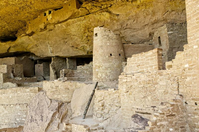Mesa Verde Anasazi Cliff Dwellings. Ancient ruins are all that remain of the Anasazi Puebloan people that once lived at Cliff House at Mesa Verde, Colorado royalty free stock photography