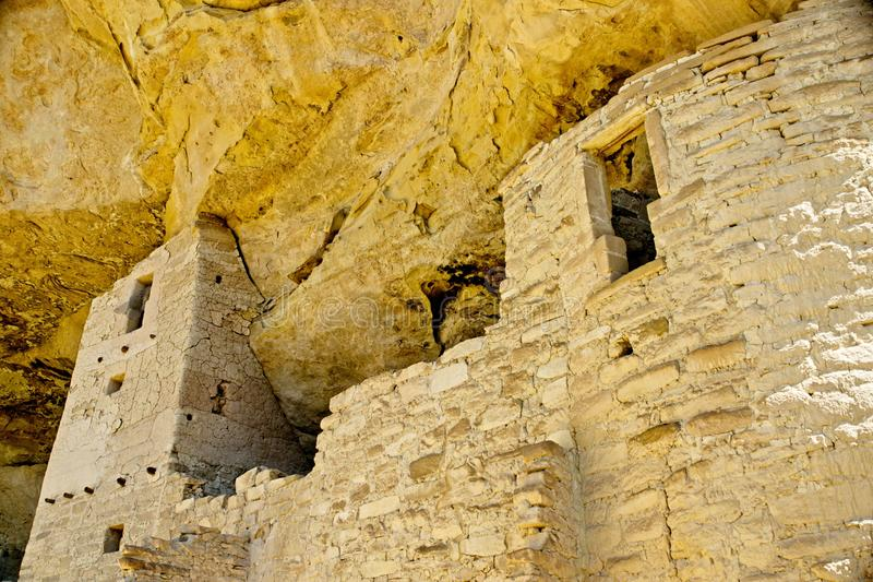 Mesa Verde Anasazi Cliff Dwellings. Ancient ruins are all that remain of the Anasazi Puebloan people that once lived at Cliff House at Mesa Verde, Colorado stock photography