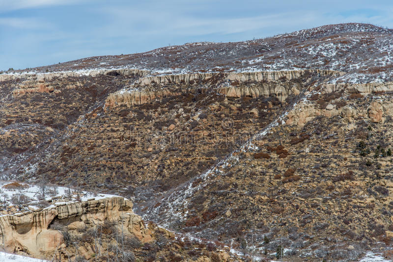 MESA-verde Nationalparkwüstengebirgswinter-Schneelandschaft lizenzfreie stockfotos