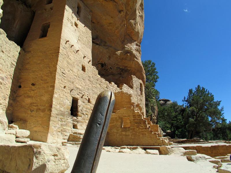 Mesa Verde UNESCO Cliff Dwellings. American national park and UNESCO World Heritage Site located in Montezuma County, Colorado. The park protects some of the stock photos