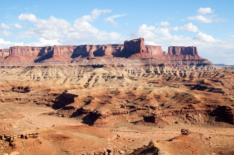 Mesas在Canyonlands 库存图片