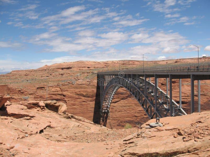 Mesas γεφυρών πέρα από τη δεξαμενή Powell λιμνών στοκ φωτογραφία