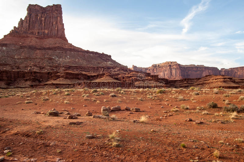 Mesas in Canyonlands. Mesas and cayons over the green river in Canyonlands nation park Utah royalty free stock image