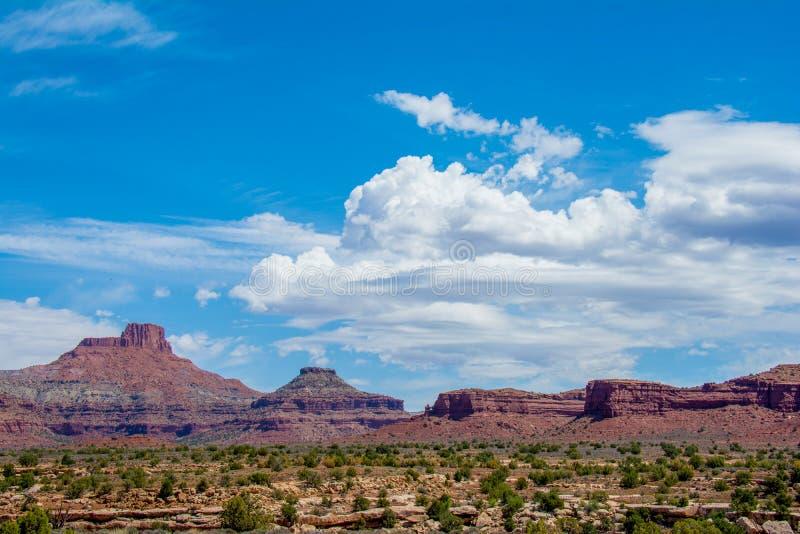 Mesas en Buttes in Utah stock afbeeldingen