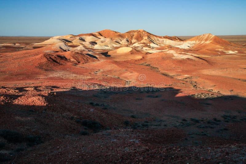 Mesas przy zmierzchem w Breakaways konserwacji parku, coober pedy, Południowy Australia, Australia fotografia royalty free