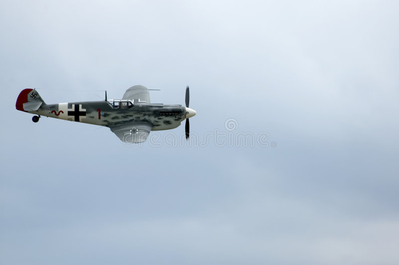 Meschersmitt at Duxford airshow royalty free stock image
