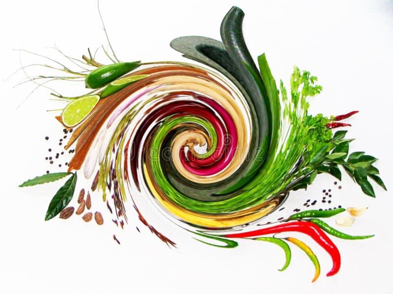 Mescolamento delle erbe & delle spezie fresche fotografie stock