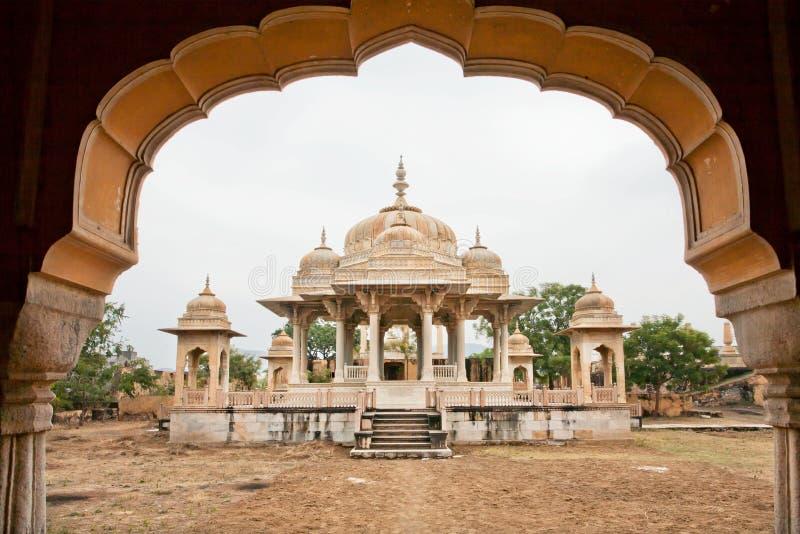 Mescolamento perfetto dell'architettura islamica e dell'architettura del tempio indù immagine stock