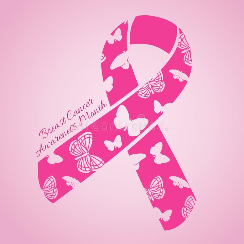 Mese di consapevolezza del cancro al seno illustrazione vettoriale