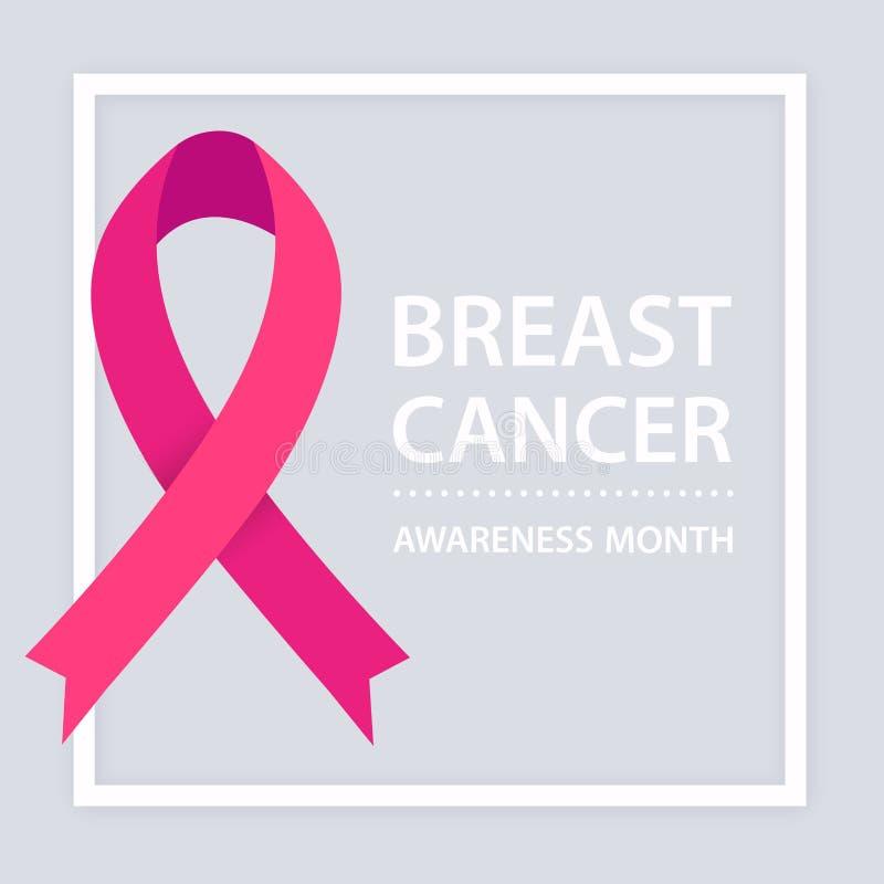 Mese di consapevolezza del cancro al seno Nastro dentellare illustrazione vettoriale