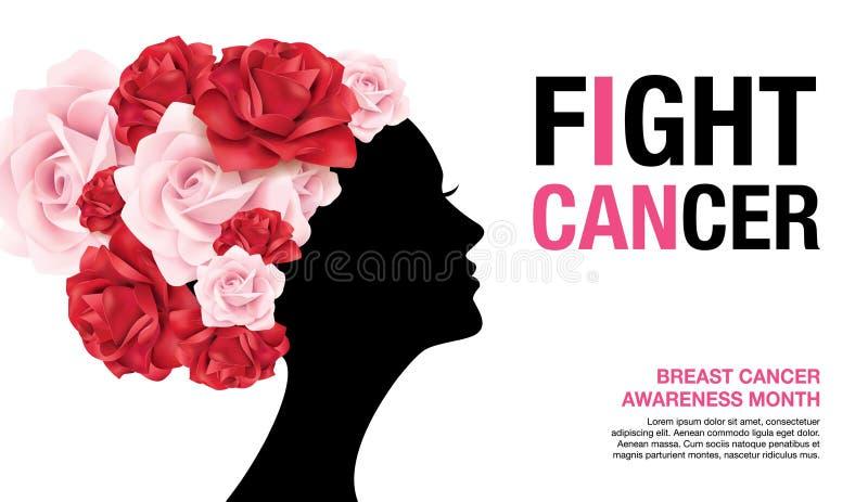 Mese di consapevolezza del cancro al seno illustrazione di stock